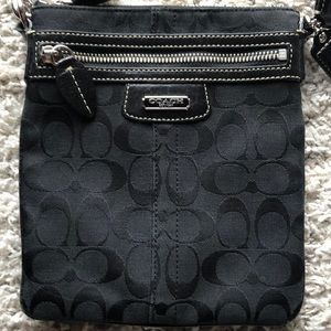 Coach Penelope black signature crossbody handbag
